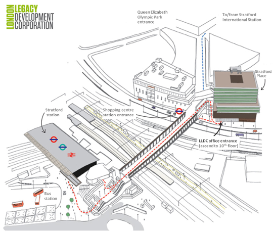 Stratford Station Map Our offices | Queen Elizabeth Olympic Park