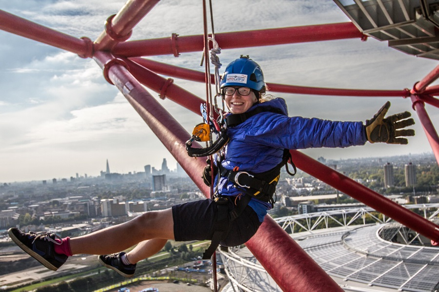 Abseiling at the ArcelorMittal Orbit
