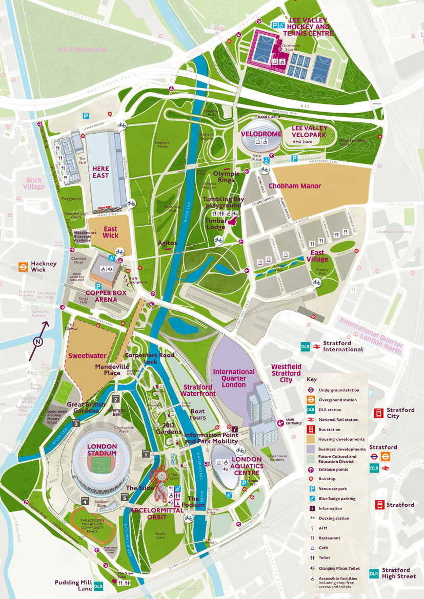 Park Map Queen Elizabeth Olympic Park