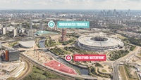 Queen Elizabeth Olympic Park Aerial view