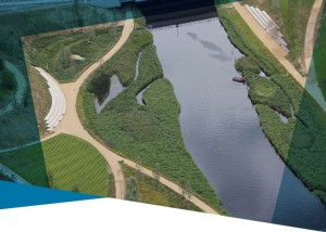 Aerial view of the river Lea