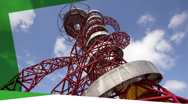 upward image of the ArcelorMittal Orbit
